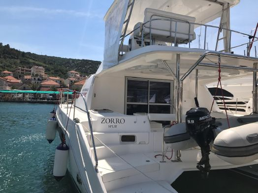 Used Power Catamarans for Sale 2012 Leopard 39 PC Deck & Equipment