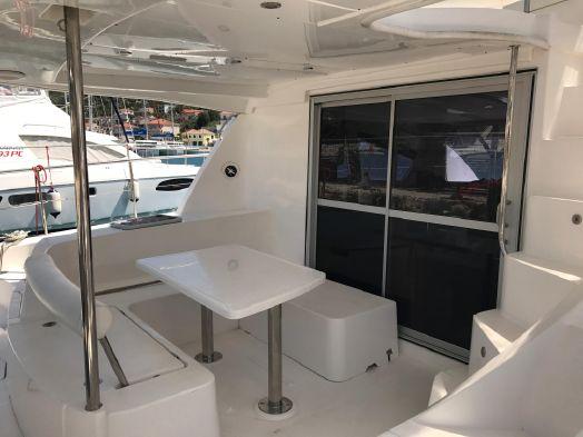 Used Power Catamaran for Sale 2012 Leopard 39 PC Deck & Equipment