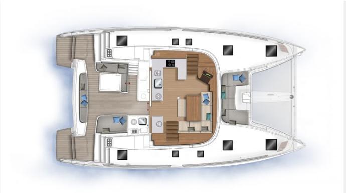 New Sail Catamaran for Sale  Lagoon 46 Layout & Accommodations