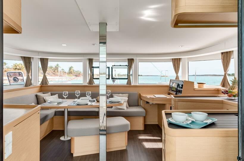 Used Sail Catamarans for Sale 2017 Lagoon 42 Layout & Accommodations