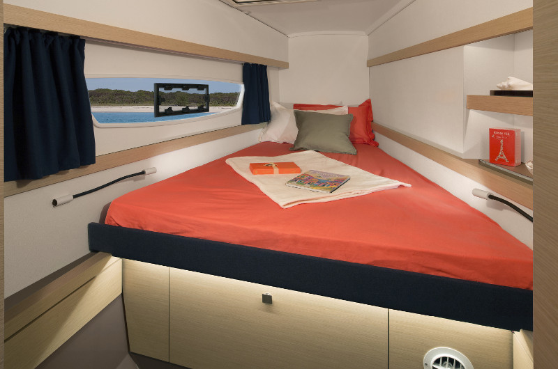 New Sail Catamaran for Sale 2020 LUCIA 40 Layout & Accommodations