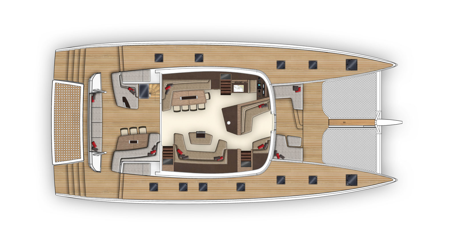 New Sail Catamaran for Sale  SEVENTY 7 Layout & Accommodations