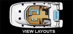Preowned Power Catamarans for Sale 2015 Aquila 44  Layout & Accommodations