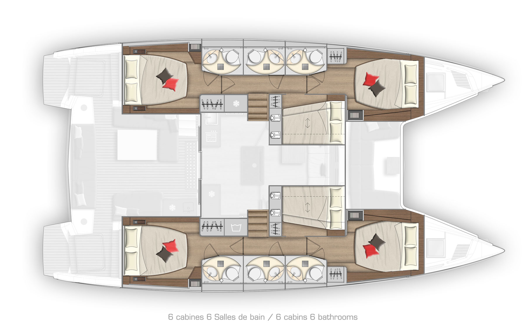 New Sail Catamaran for Sale  Lagoon 50 Layout & Accommodations