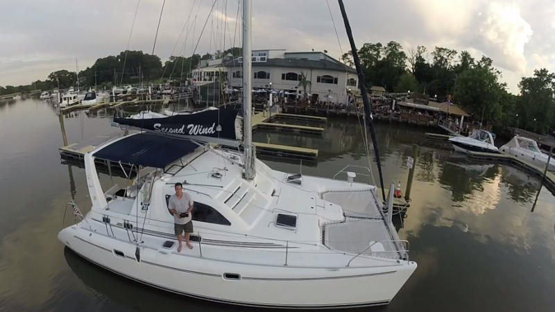 Used Sail Catamaran for Sale 2000 Leopard 38 Boat Highlights