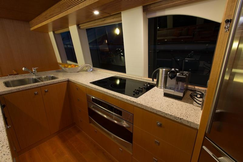 Used Power Catamaran for Sale 2013 Horizon PC60 Galley