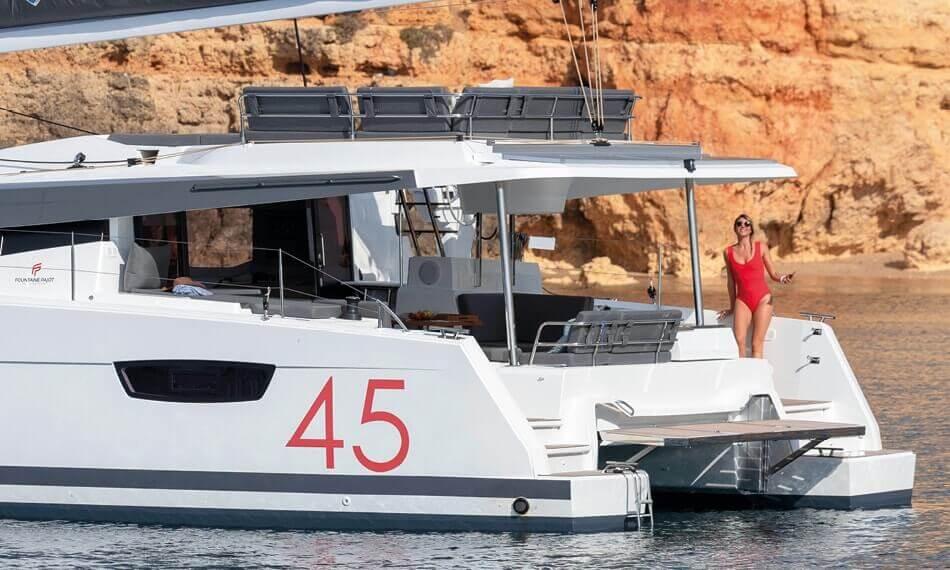 New Sail Catamaran for Sale 2021 Elba 45 Deck & Equipment