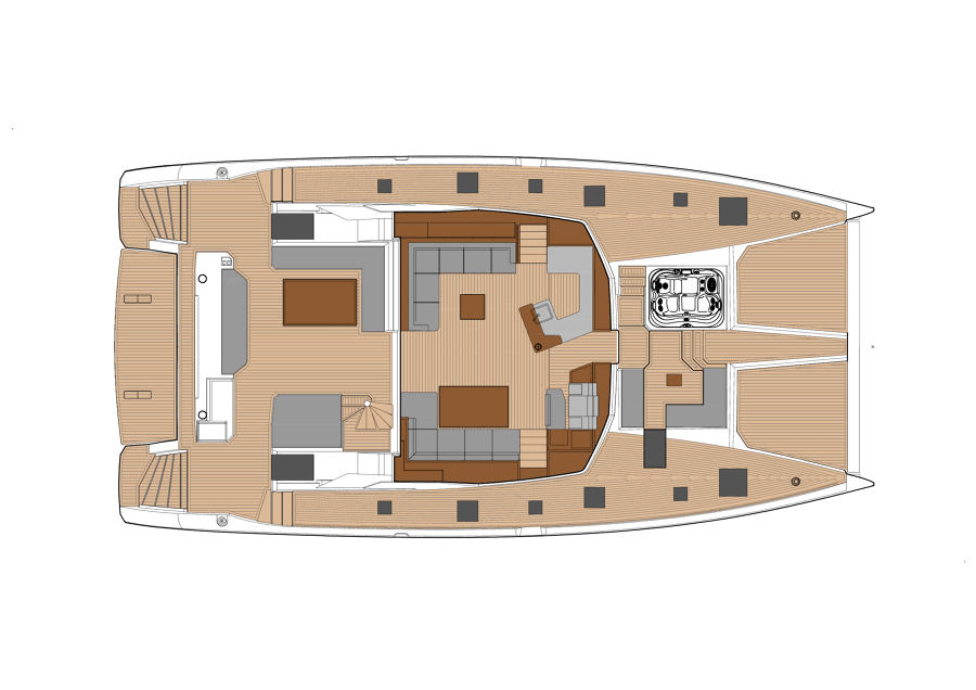 New Power Catamaran for Sale  Power 67 Layout & Accommodations