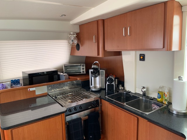 Used Sail Catamaran for Sale 2010 Leopard 46  Galley