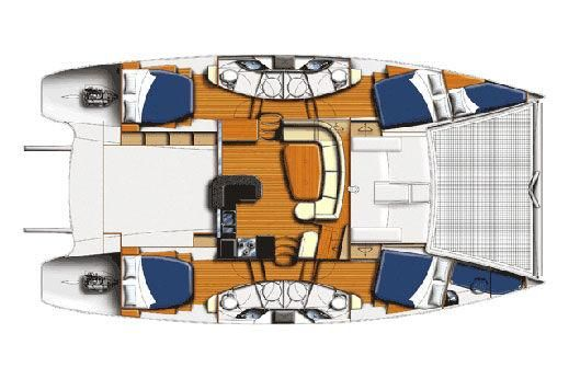 Used Sail Catamaran for Sale 2012 Leopard 46  Layout & Accommodations