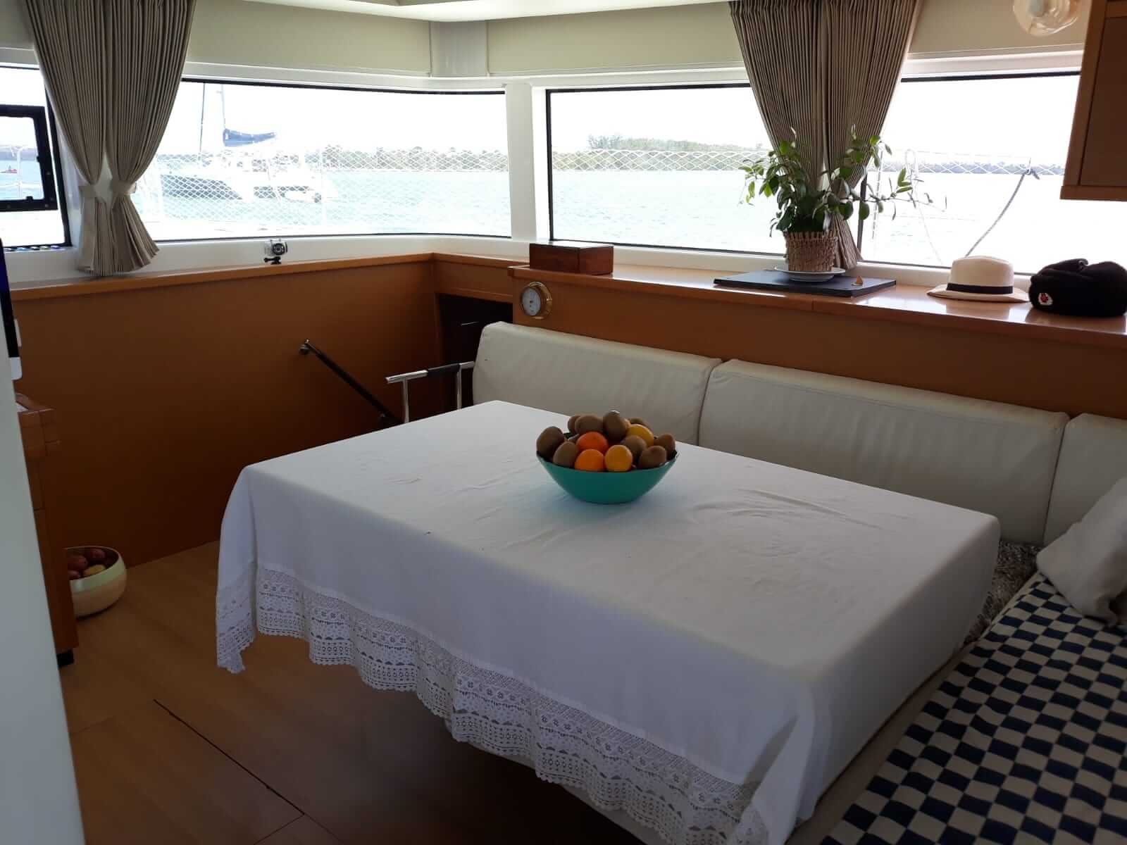 Used Sail Catamaran for Sale 2016 Lagoon 52 Layout & Accommodations