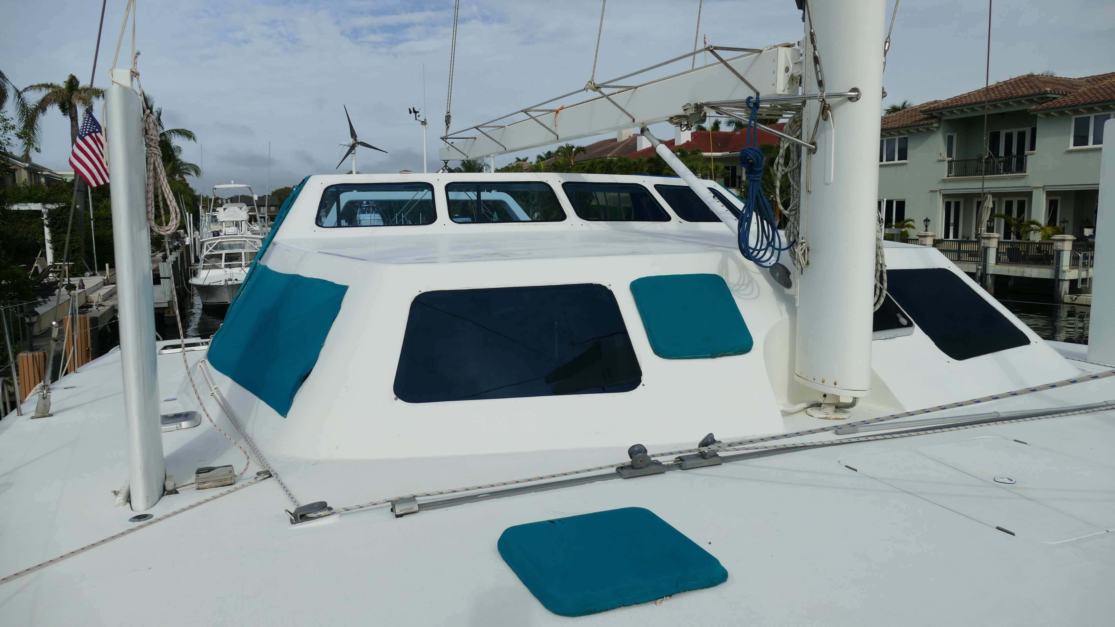 Used Sail Catamaran for Sale 1999 Custom Deck & Equipment