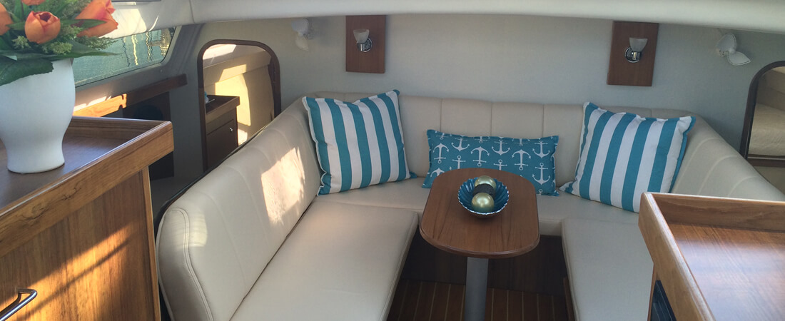 New Sail Catamaran for Sale 2019 Legacy 35x Layout & Accommodations