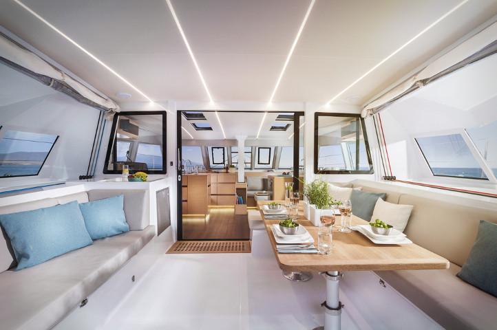 New Sail Catamaran for Sale  Nautitech 46 Fly Layout & Accommodations