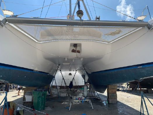 Used Sail Catamaran for Sale 2013 Leopard 48 Deck & Equipment