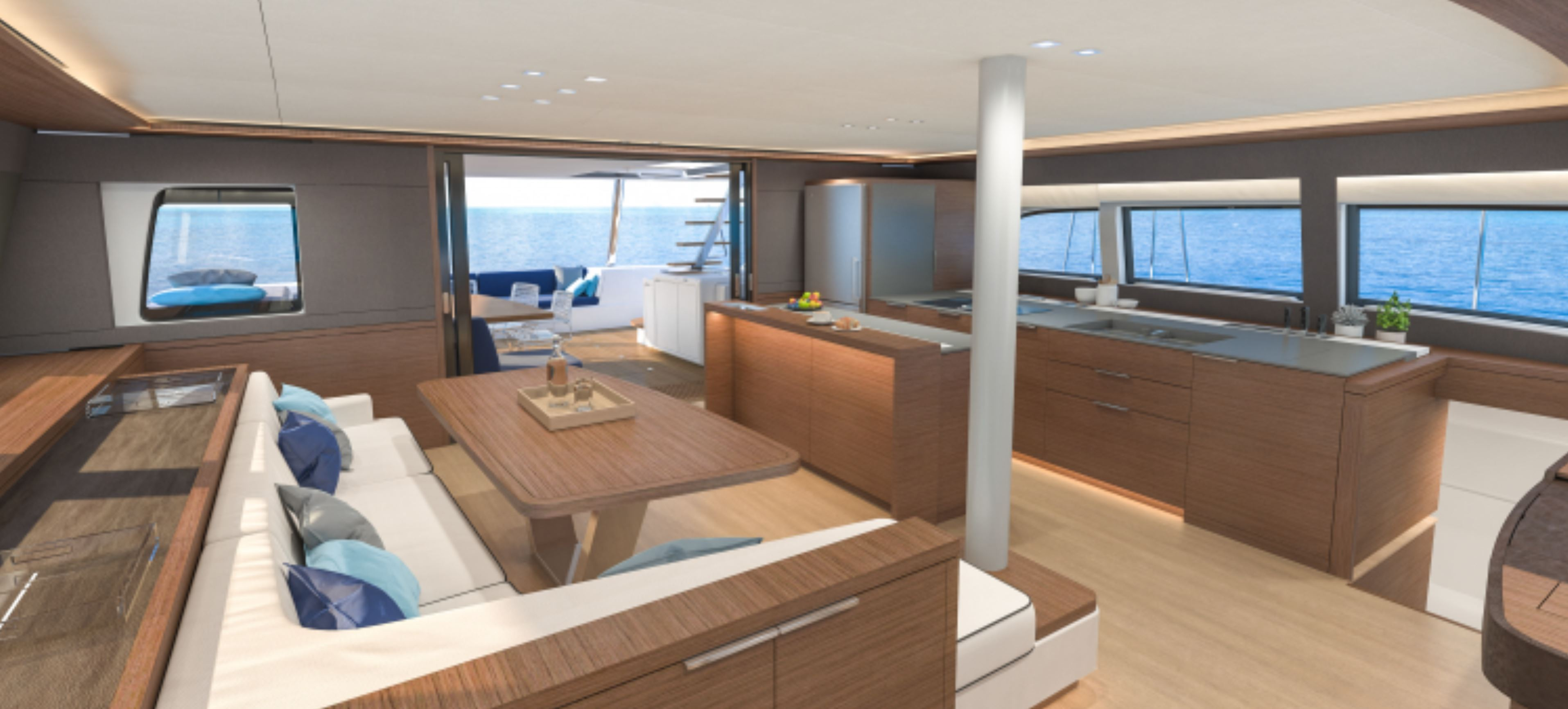 New Sail Catamaran for Sale 2020 Lagoon Sixty 5 Layout & Accommodations