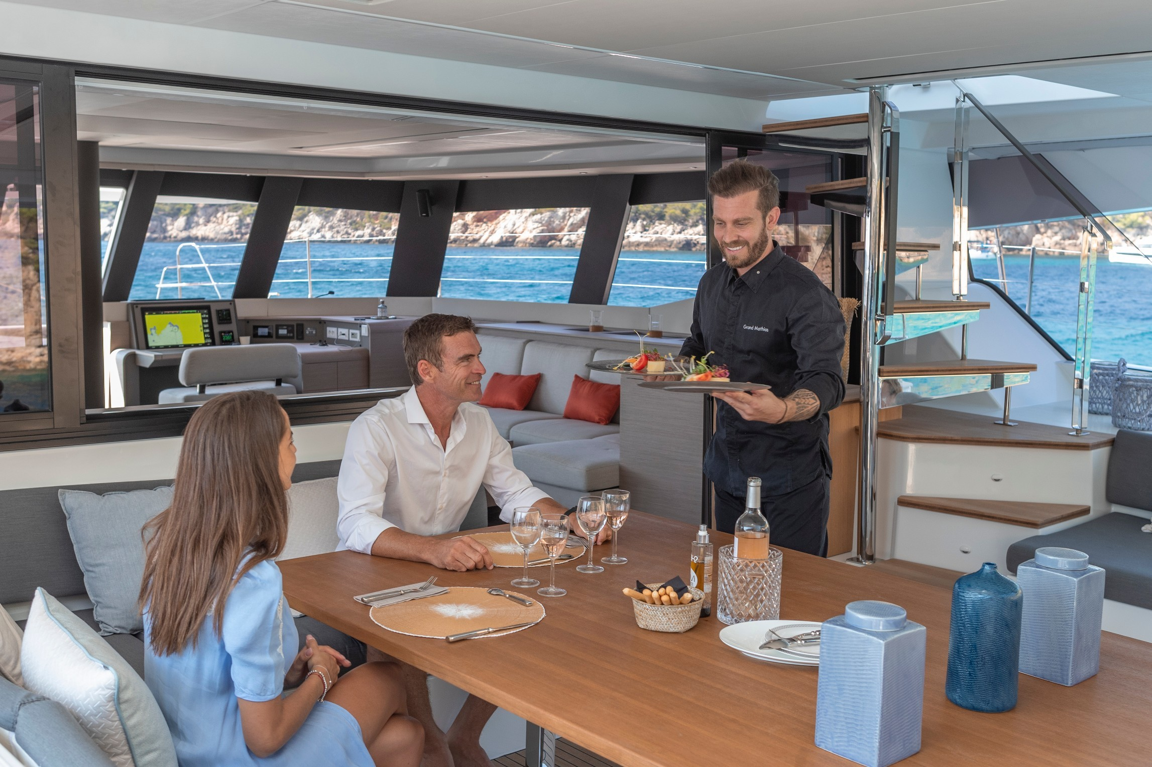 New Sail Catamaran for Sale 2021 Fountaine Pajot 59 Deck & Equipment
