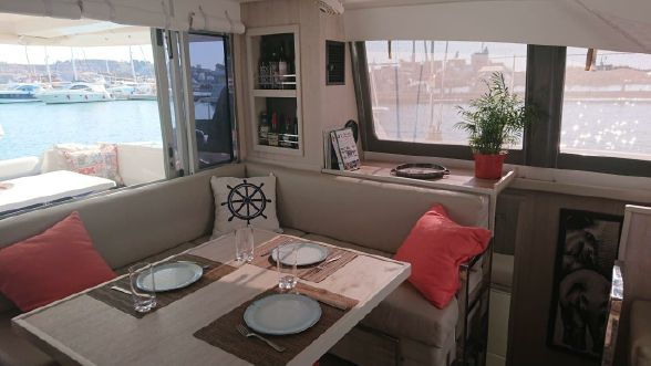 Used Sail Catamaran for Sale 2017 Leopard 40 Layout & Accommodations