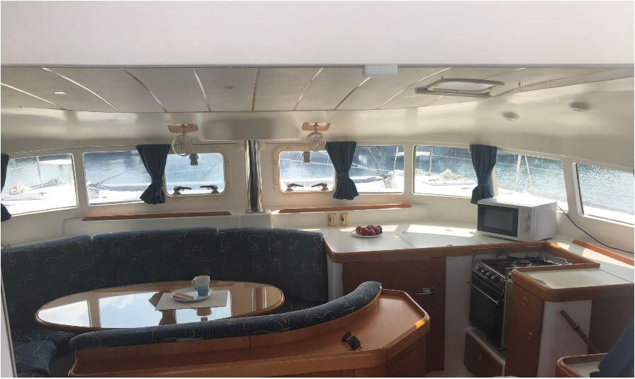 Used Sail Catamaran for Sale 2003 Lagoon 410 S2 Layout & Accommodations