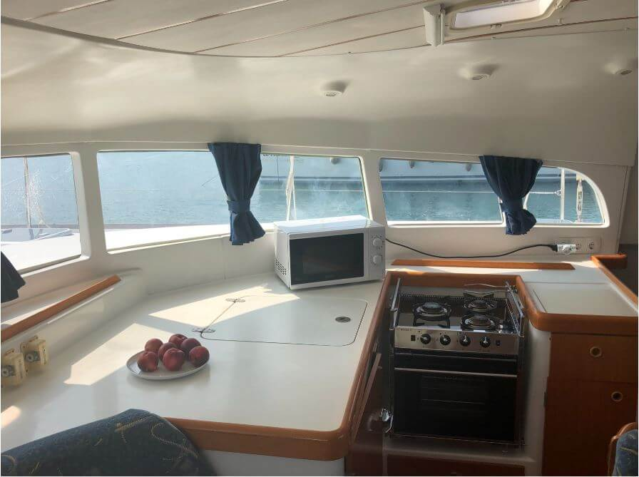 Used Sail Catamaran for Sale 2003 Lagoon 410 S2 Galley