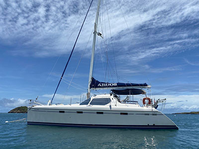 Used Sail Catamaran for Sale 2002 Privilege 435