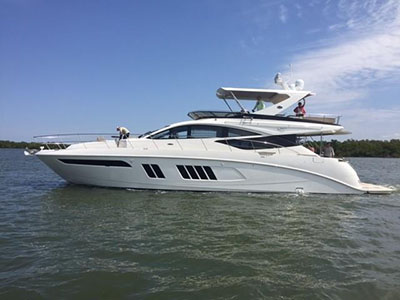 Used Power Catamarans for Sale 2016 Sea Ray 650 FLY