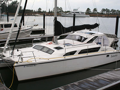 Catamarans SOLSTICE, Manufacturer: PERFORMANCE CRUISING, Model Year: 2006, Length: 34ft, Model: Gemini 105Mc, Condition: Used, Listing Status: SOLD, Price: USD 123000