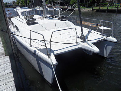 Catamarans NO STRESS, Manufacturer: PERFORMANCE CRUISING, Model Year: 2002, Length: 34ft, Model: Gemini 105Mc, Condition: Used, Listing Status: SOLD, Price: USD 99000