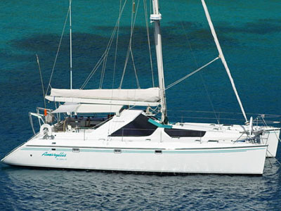 Catamarans AMARYLLIS, Manufacturer: JEANTOT MARINE, Model Year: 1995, Length: 45ft, Model: Privilege 45, Condition: Used, Listing Status: SOLD, Price: USD 277000