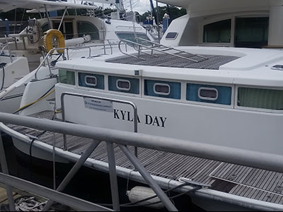 Catamarans KYLA DAY, Manufacturer: LAGOON, Model Year: 2004, Length: 43ft, Model: Lagoon Power 43, Condition: Preowned, Listing Status: Catamaran for Sale, Price: USD 289000