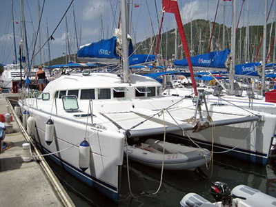SOLD Lagoon 410  in Tortola British Virgin Islands ISLAND GIRL  Preowned Sail