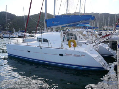 Catamarans HOLLY MOLLY, Manufacturer: LAGOON, Model Year: 2004, Length: 38ft, Model: Lagoon 380, Condition: USED, Listing Status: SOLD, Price: USD 184000