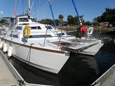 Catamarans BORN TO CRUISE, Manufacturer: SOLARIS, Model Year: 1987, Length: 39ft, Model: Sunstream, Condition: Used, Listing Status: SOLD, Price: USD 125000