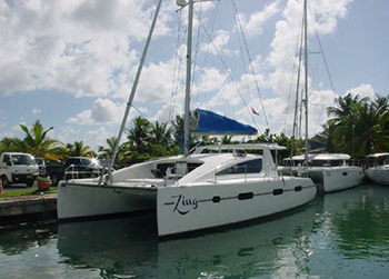 Catamarans ZING, Manufacturer: MATRIX YACHTS, Model Year: 2012, Length: 45ft, Model: Vision 450, Condition: USED, Listing Status: Catamaran for Sale, Price: USD 465000