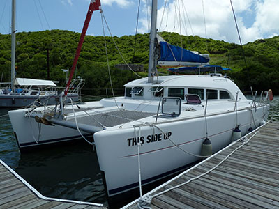 SOLD Lagoon 380  in Grenada THIS SIDE UP Thumbnail for Listing Preowned Sail