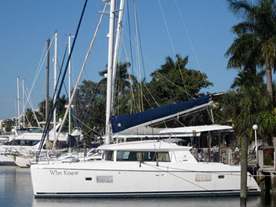 Catamarans WHO KNEW, Manufacturer: LAGOON, Model Year: 2008, Length: 42ft, Model: Lagoon 420, Condition: Used, Listing Status: SOLD, Price: USD 449000