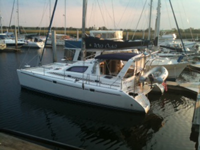 SOLD Leopard 38  in Brunswick Georgia (GA)  WILD ORCHID Thumbnail for Listing Preowned Sail