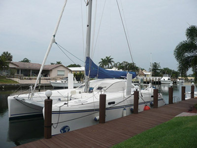 Catamarans SANTANA, Manufacturer: CATANA, Model Year: 1998, Length: 41ft, Model: Catana 411, Condition: Used, Listing Status: SOLD, Price: USD 217000