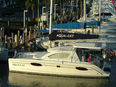 SOLD Leopard 38  in Dania Beach Florida (FL)  AQUA-CAT Thumbnail for Listing Preowned Sail