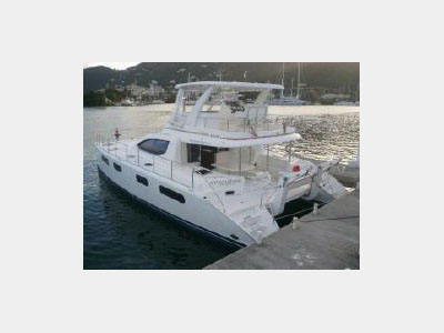 SOLD Leopard 47  in Tortola British Virgin Islands A TOUCH OF GRAY Thumbnail for Listing Preowned Power