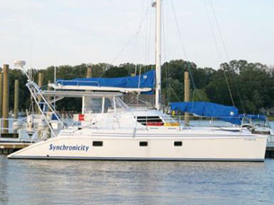 Catamarans SYNCHRONICITY, Manufacturer: MANTA, Model Year: 2005, Length: 42ft, Model: Manta 42 MK II, Condition: USED, Listing Status: Catamaran for Sale, Price: USD 380000