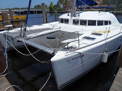 Catamarans LA BAMBA, Manufacturer: LAGOON, Model Year: 2002, Length: 41ft, Model: Lagoon 410, Condition: Used, Listing Status: Under Offer, Price: USD 229000