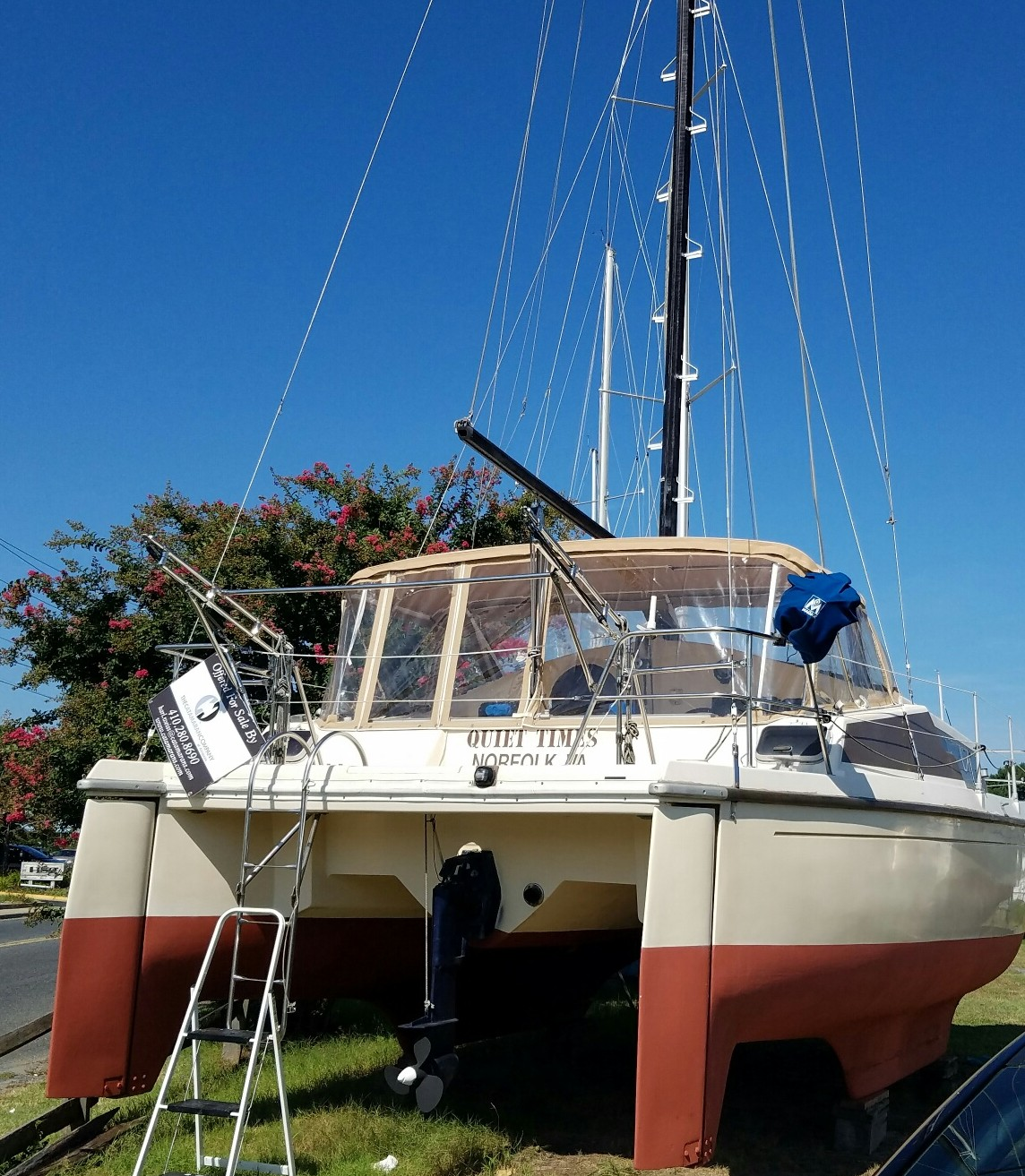 Catamarans QUIET TIMES, Manufacturer: PROUT, Model Year: 1986, Length: 33ft, Model: Quest 33CS, Condition: Preowned, Listing Status: Catamaran for Sale, Price: USD 37000