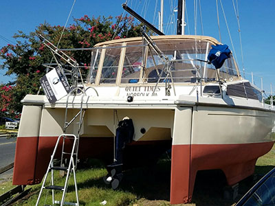 Catamarans QUIET TIMES, Manufacturer: PROUT, Model Year: 1986, Length: 33ft, Model: Quest 33CS, Condition: Preowned, Listing Status: Catamaran for Sale, Price: USD 39000