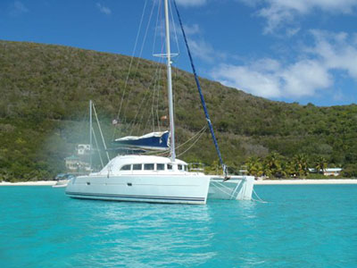 SOLD Lagoon 380  in Tortola British Virgin Islands BIRDS NEST  Preowned Sail