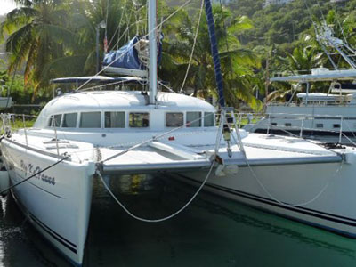 SOLD Lagoon 410 S2  in Tortola British Virgin Islands BIG KAHANNA  Preowned Sail