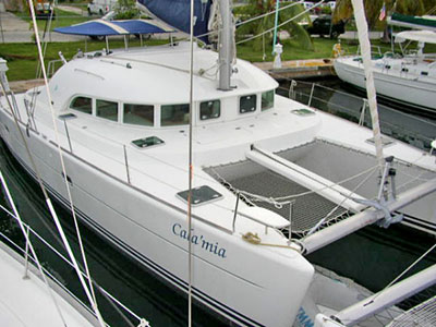 Catamarans CALA MIA, Manufacturer: LAGOON, Model Year: 2001, Length: 38ft, Model: Lagoon 380, Condition: Used, Listing Status: SOLD, Price: USD 197500