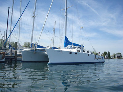 Catamarans TOO GRAND, Manufacturer: MELROSE MARINE, Model Year: 1984, Length: 44ft, Model: Crowther 44, Condition: USED, Listing Status: Catamaran for Sale, Price: USD 115000