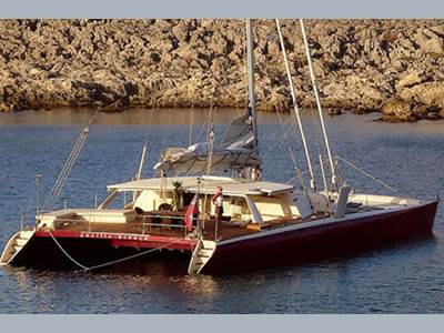 SOLD Sail Catamaran  in Palma de Mallorca Spain PACIFIC BREEZE Thumbnail for Listing Preowned Sail