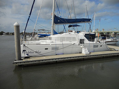 Catamarans DOLPHIN BLUE, Manufacturer: LAGOON, Model Year: 2006, Length: 44ft, Model: Lagoon 440, Condition: USED, Listing Status: Acceptance of Vessel, Price: USD 459000